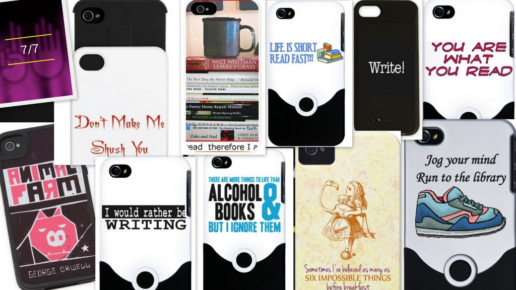 smart phone cases, skins and covers for book lovers. I want!