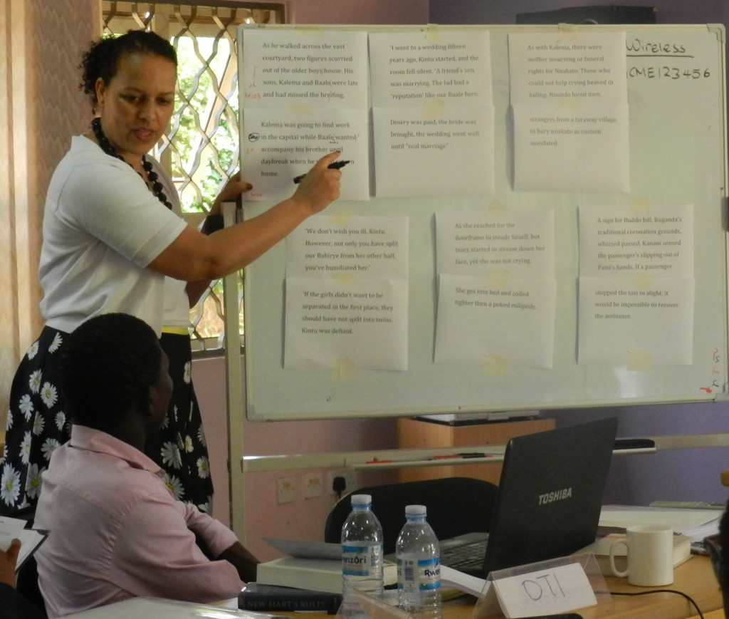 Vimbai Shire during the Editorial Skills Workshop in Kampala in June.